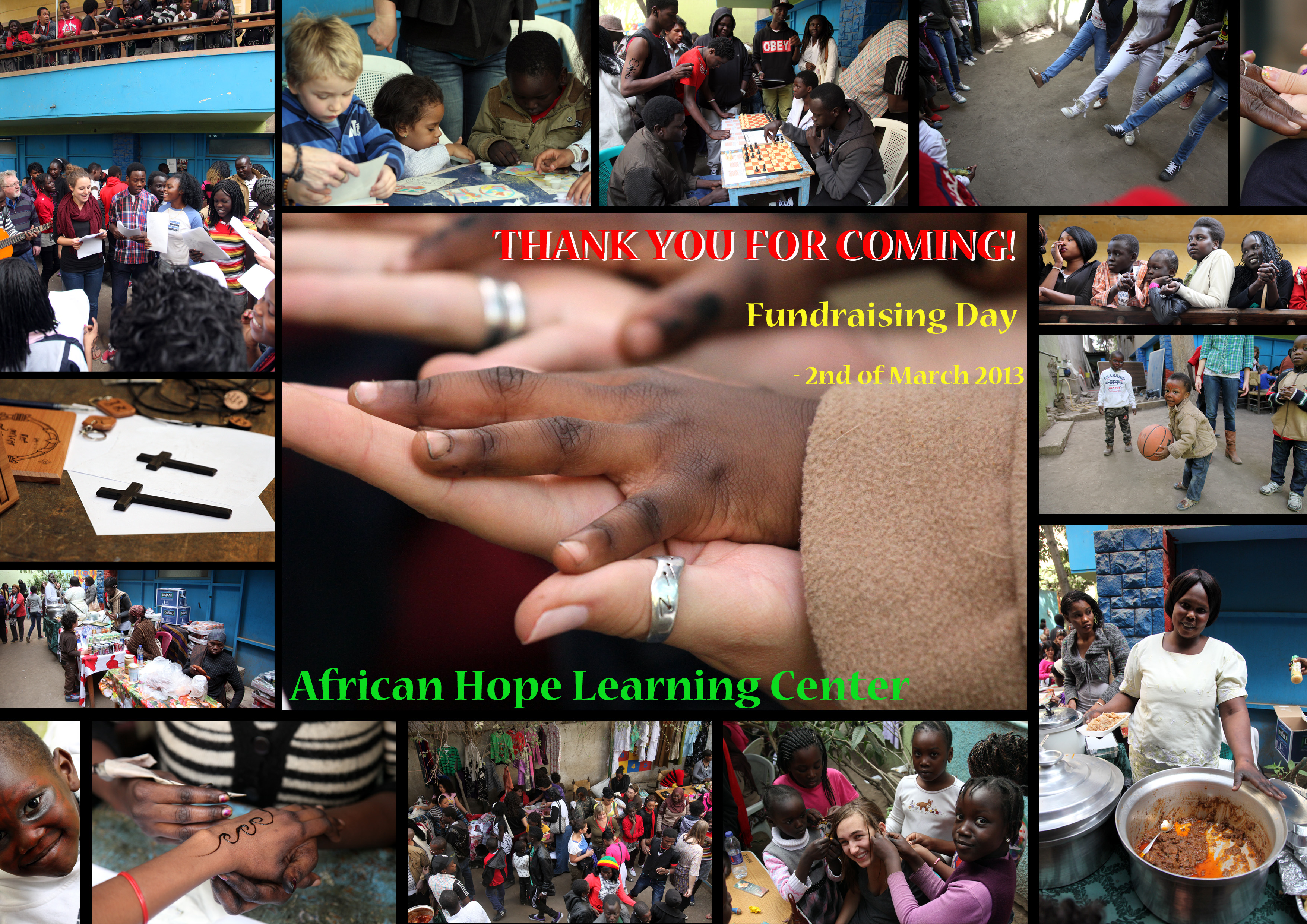 AHLC Thank you- Fundraising day